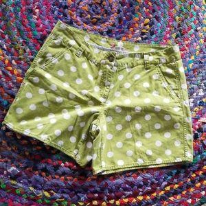 Boden   green polka dot shorts